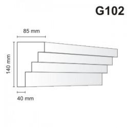 Gzyms elewacyjny G102 140x85mm