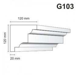 Gzyms elewacyjny G103 120x120mm