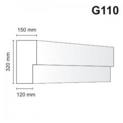Gzyms elewacyjny G110 150x320mm