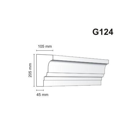 Gzyms elewacyjny G124 105x205mm