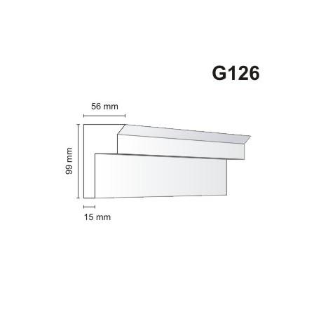 Gzyms elewacyjny G126 56x99mm