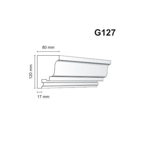 Gzyms elewacyjny G127 80x120mm