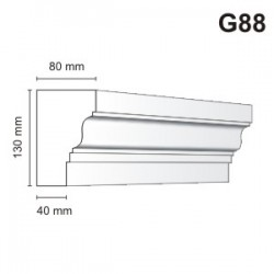 Gzyms elewacyjny G88 80X130mm