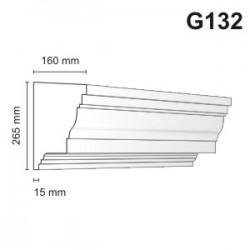 Gzyms elewacyjny G132 160x265mm