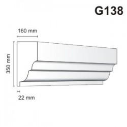 Gzyms elewacyjny G138 160x350mm