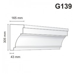 Gzyms elewacyjny G139 165x305mm
