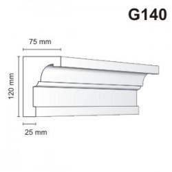 Gzyms elewacyjny G140 75x120mm