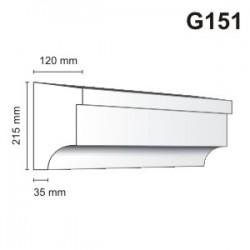Gzyms elewacyjny G151 120x215mm