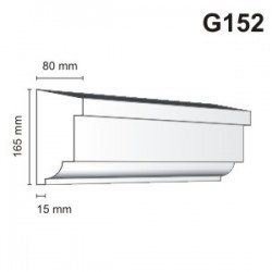 Gzyms elewacyjny G152 80x165mm