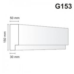 Gzyms elewacyjny G153 50x150mm