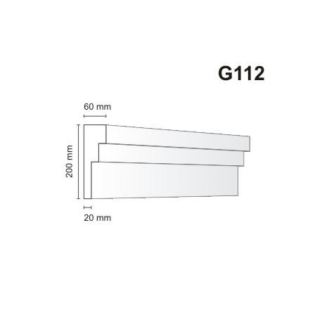 Gzyms elewacyjny G112 60x200mm