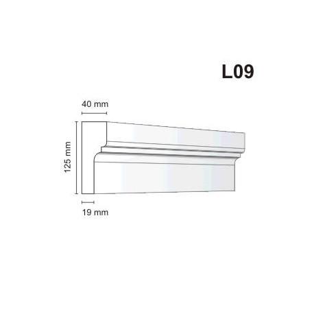 Listwa elewacyjna L09 40x125mm