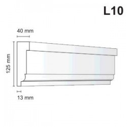 Listwa elewacyjna L10 40x125mm