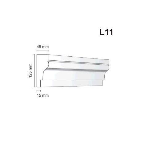 Listwa elewacyjna L11 45x125mm