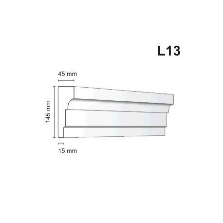 Listwa elewacyjna L13 45x145mm