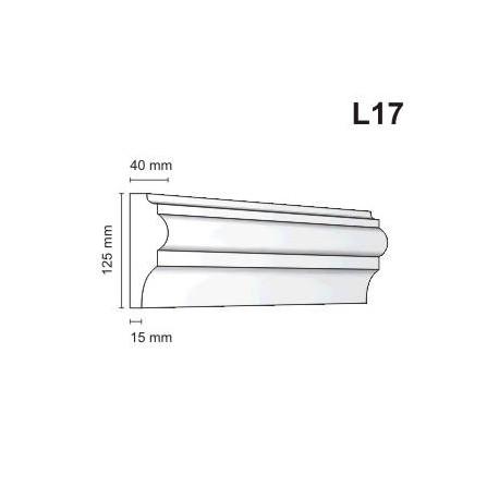 Listwa elewacyjna L17 40x125mm