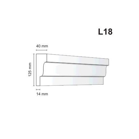 Listwa elewacyjna L18 40x125mm