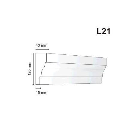 Listwa elewacyjna L21 40x120mm