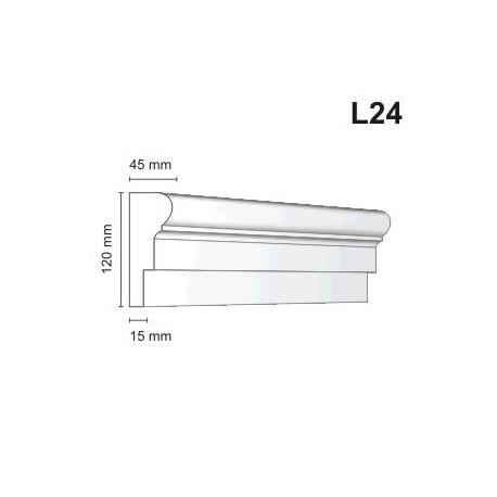 Listwa elewacyjna L24 45x120mm