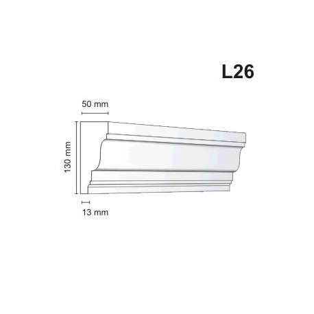 Listwa elewacyjna L26 50x130mm