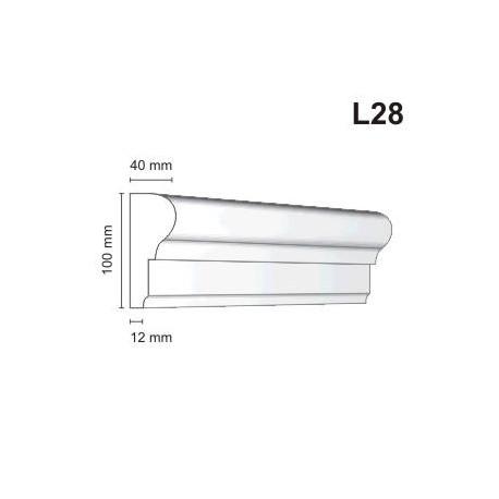 Listwa elewacyjna L28 40x100mmm