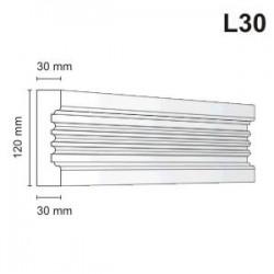Listwa elewacyjna L30 30x120mm