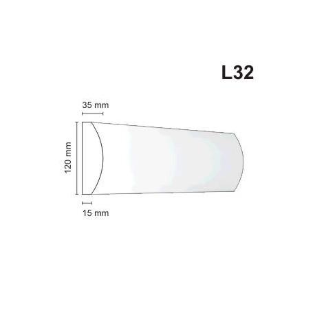 Listwa elewacyjna L32 35x120mm