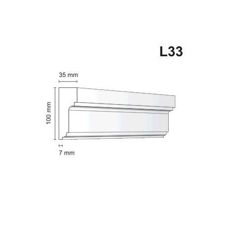 Listwa elewacyjna L33 35x100mm