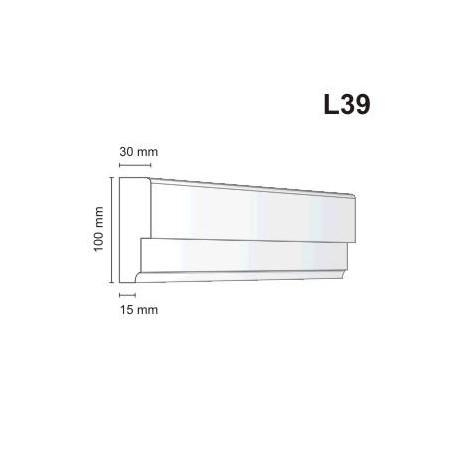 Listwa elewacyjna L39 30x100mm