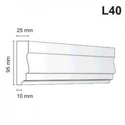 Listwa elewacyjna L40 25x95mm
