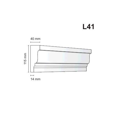 Listwa elewacyjna L41 40x115mm