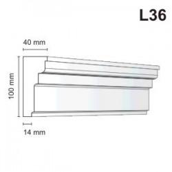 Listwa elewacyjna L36 40x100mm