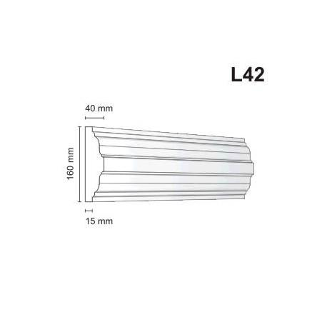 Listwa elewacyjna L42 40x160mm