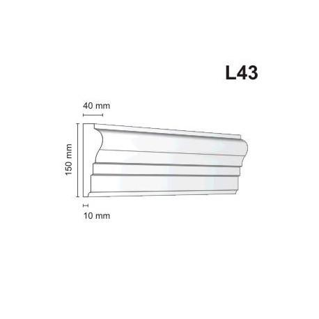 Listwa elewacyjna L43 40x150mm