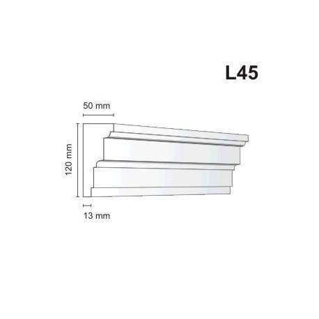 Listwa elewacyjna L45 50x120mm