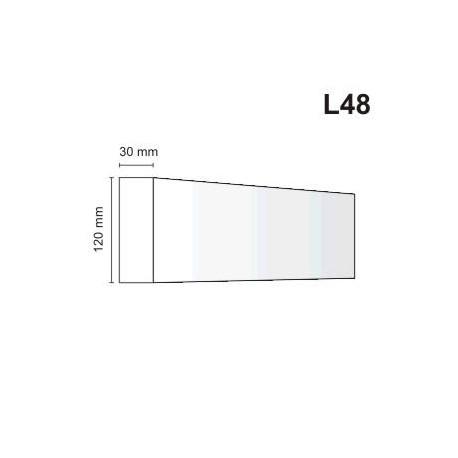 Listwa elewacyjna L48 30x120mm