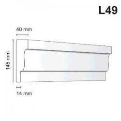Listwa elewacyjna L49 40x145mm