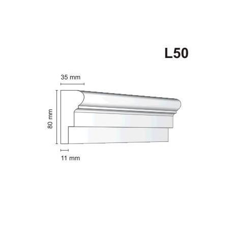 Listwa elewacyjna L50 35x80mm