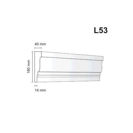 Listwa elewacyjna L53 40x180mm