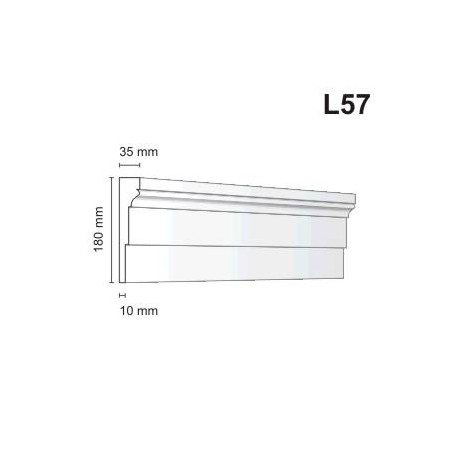 Listwa elewacyjna L57 35x180mm