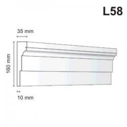 Listwa elewacyjna L58 35x160mm