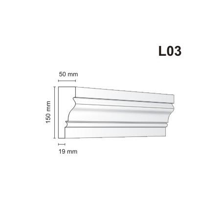 Listwa elewacyjna L03 50x150mm