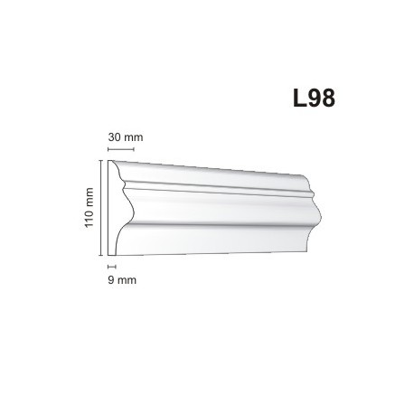 Listwa elewacyjna L98 35x110mm