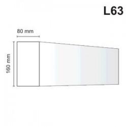 Listwa elewacyjna L63 80x160mm