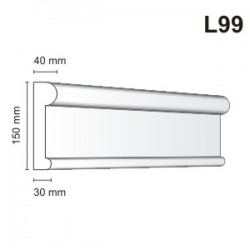 Listwa elewacyjna L99 40x150mm