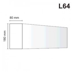 Listwa elewacyjna L64 80x180mm
