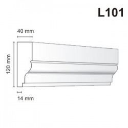 Listwa elewacyjna L101 40x120mm