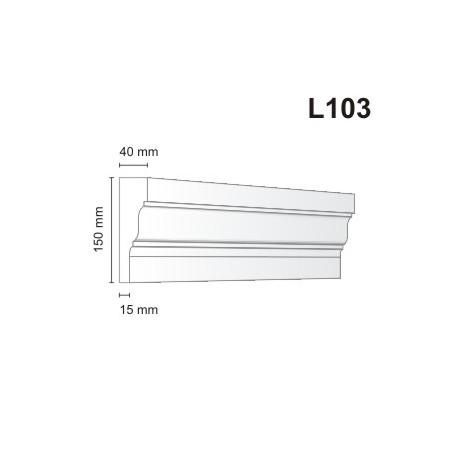 Listwa elewacyjna L103 40x150mm