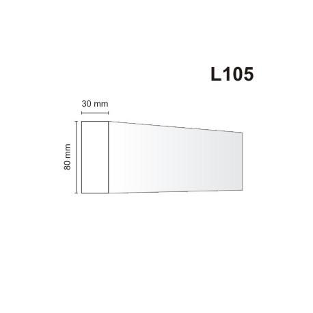 Listwa elewacyjna L105 30x80mm