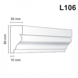Listwa elewacyjna L106 35x80mm